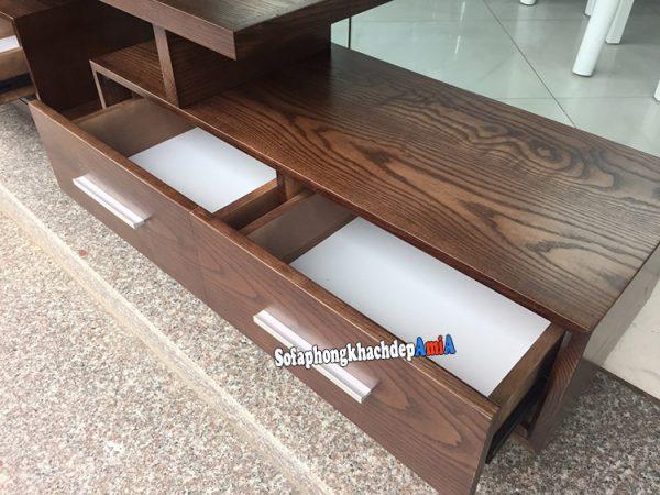 Hình ảnh Mẫu kệ tivi bằng gỗ sồi tự nhiên đẹp hiện đại và sang trọng