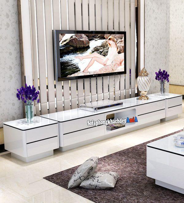Hình ảnh Kệ tivi gỗ đẹp cho phòng khách hiện đại nhà phố, chung cư, biệt thự