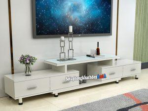 Hình ảnh Kệ tivi gỗ ép giá rẻ cho phòng khách đẹp nhà phố, nhà chung cư