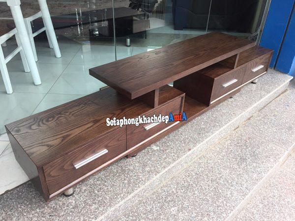 Hình anh Kệ tivi gỗ Sồi giá rẻ Hà Nội cho phòng khách đẹp