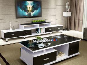 Hình ảnh Kệ tivi phòng khách hiện đại đẹp sang trọng AmiA KTV244