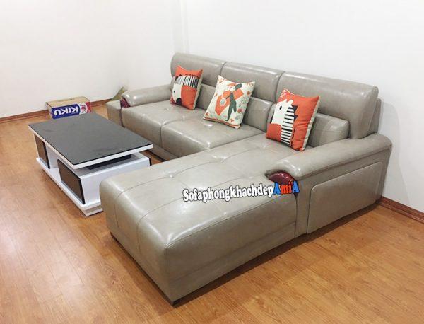 Hình ảnh Sofa da phòng khách nhập khẩu Hàn Quốc đẹp sang trọng
