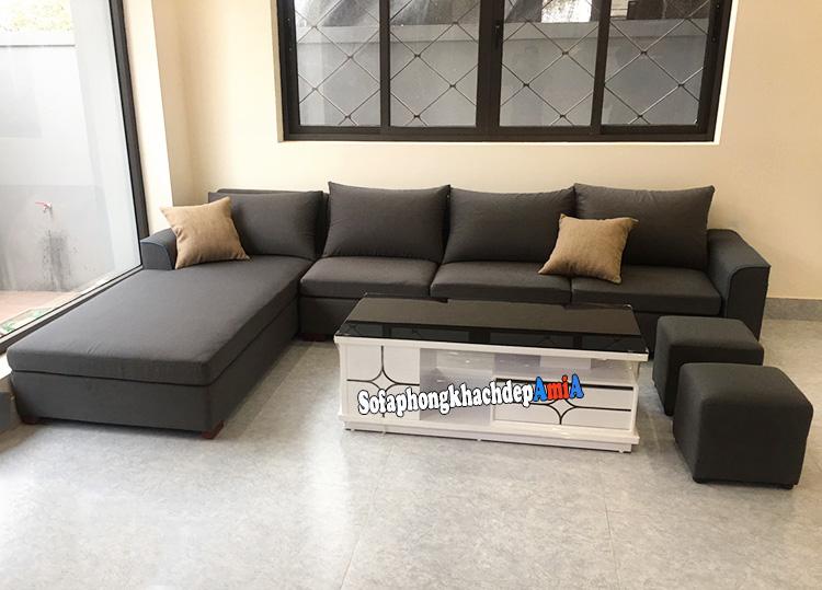 Hình ảnh Sofa góc phòng khách giá rẻ đẹp hình chữ L tiện lợi và hiện đại