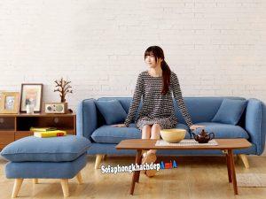 Hình ảnh thực tế mẫu sofa nỉ cho phòng khách nhỏ hẹp giá rẻ Hà Nội