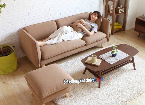 Hình ảnh Sofa nỉ đẹp phòng khách nhỏ thiết kế hiện đại, đơn giản mà đẹp