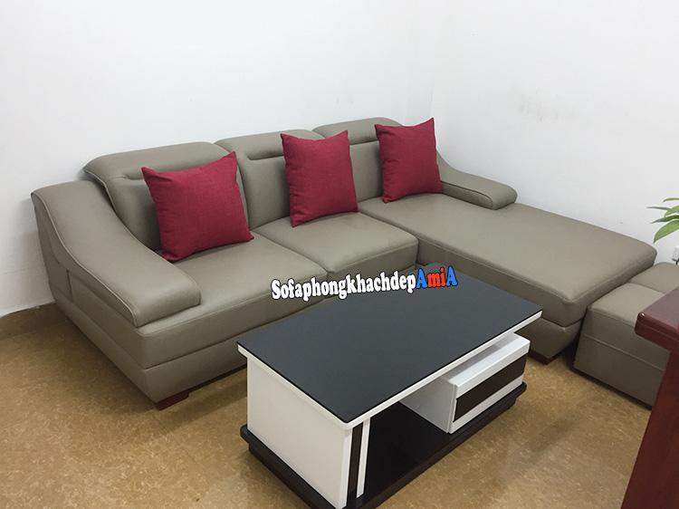 Hình ảnh  sofa cho phòng khách nhỏ dạng góc chữ L cho văn phòng tiếp khách, phòng khách công ty