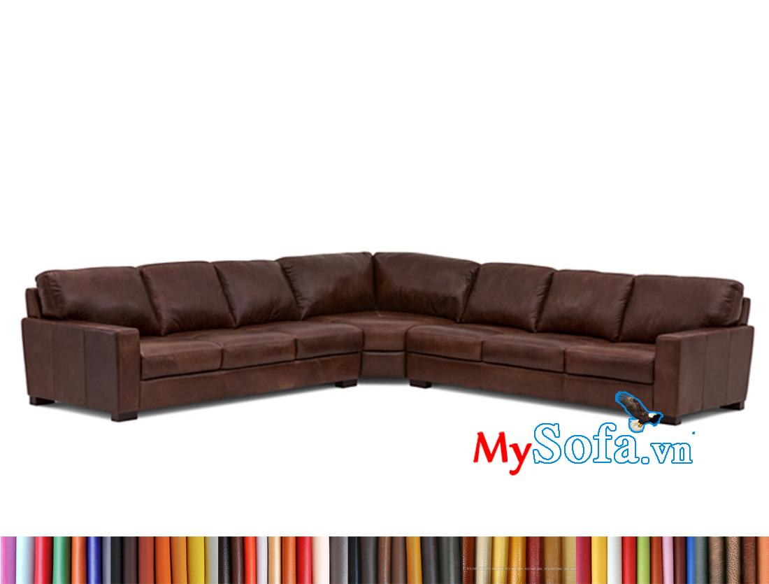 Sofa da đẹp sang trọng cho phòng khách rộng
