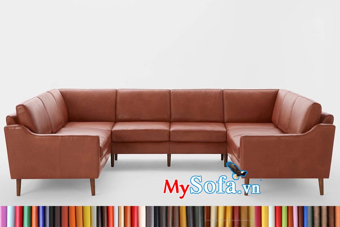 Phòng khách rộng cũng có thể chọ sofa chữ U