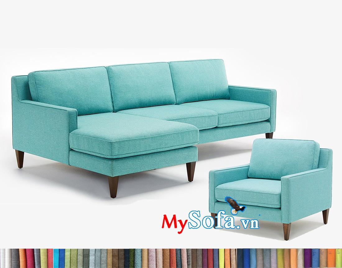 Mẫu ghế sofa màu xanh trẻ trung