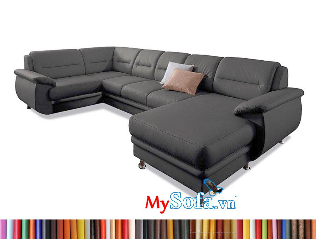 Mẫu ghế sofa da cho phóng khách rộng