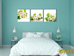 hình ảnh Tranh hoa cúc trang trí phòng ngủ người mệnh Mộc mã 657