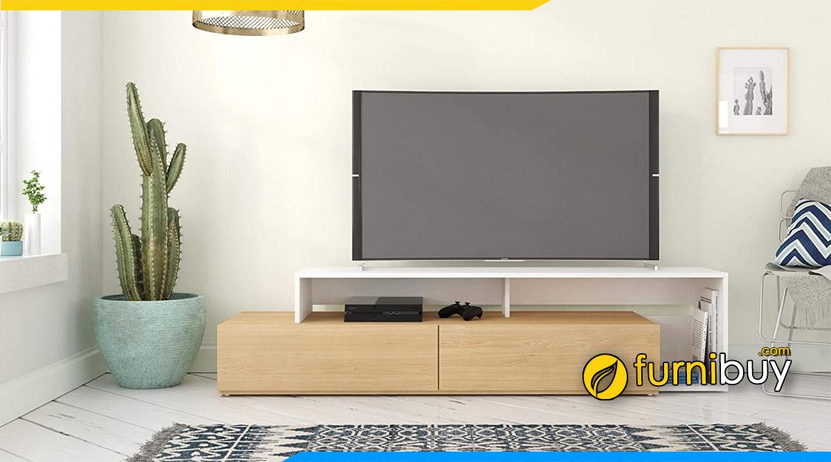 Hình ảnh Mẫu kệ tivi đơn giản gỗ MDF sơn Melamine